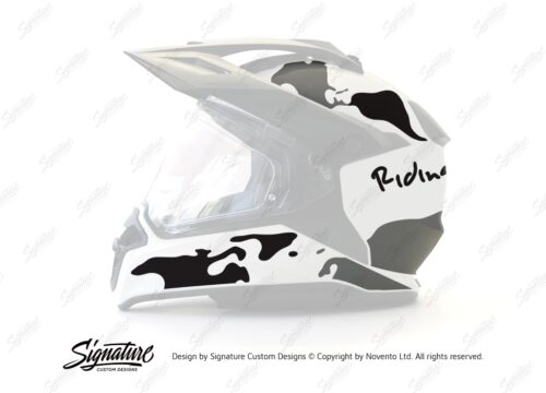 BMW Enduro 2015 Helmet White The Globe Black Grey