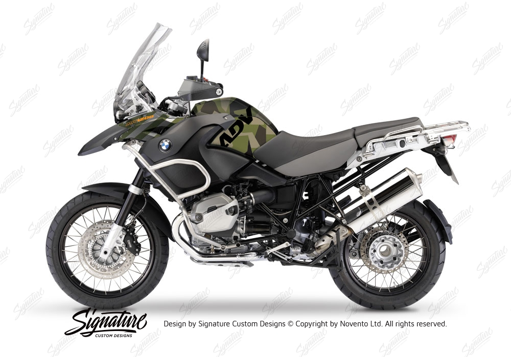 Bmw R1200gs Adventure 2008 2013 Charcoal Grey Camo