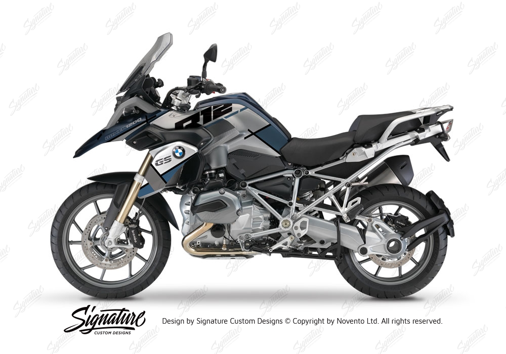 bmw r1200gs lc frozen blue vector ocean blue grey stickers