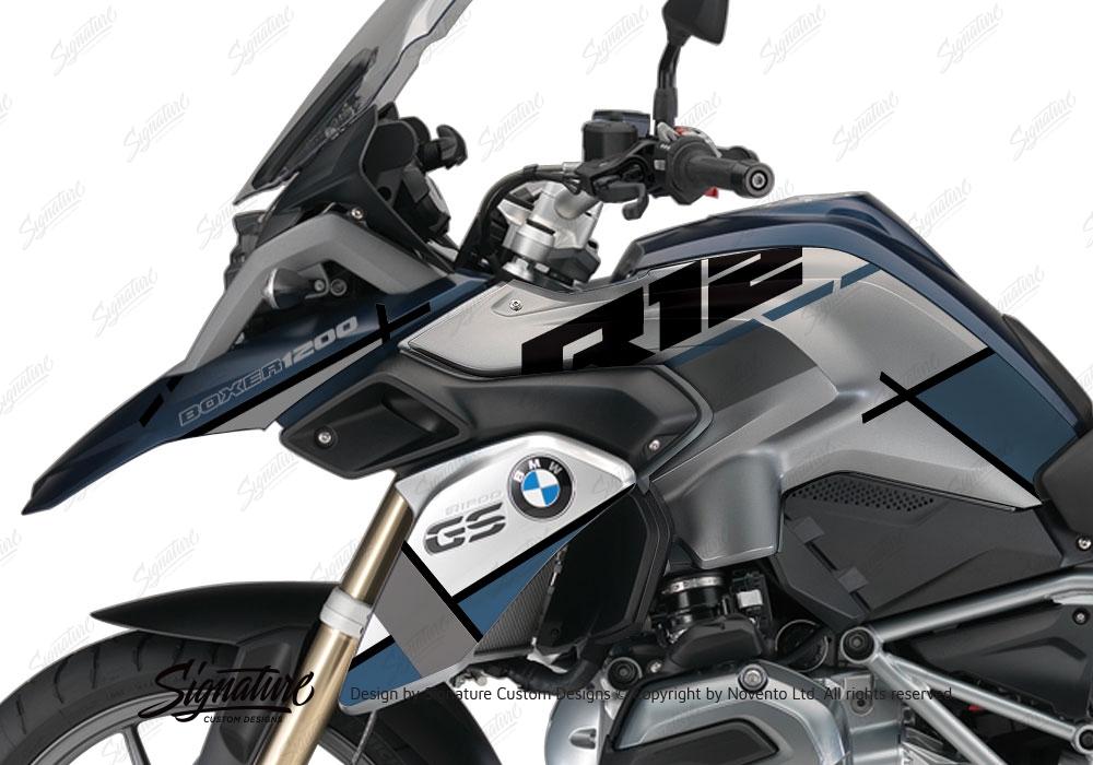 BMW R1200GS LC Frozen Blue Vector Ocean Blue Grey Stickers ...