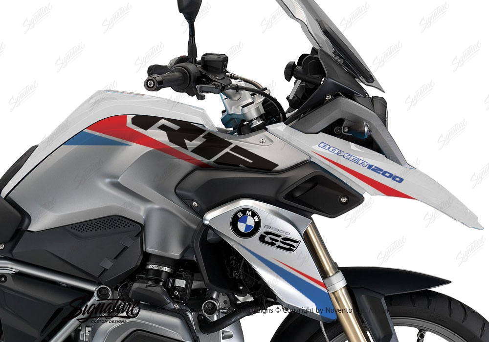 bmw r1200gs lc white vivo red blue stickers kit. Black Bedroom Furniture Sets. Home Design Ideas