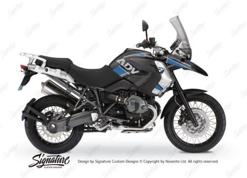 BKIT 1682 BMW R1200GS 2010 Triple Black Grey Blue Sticker Kit 01