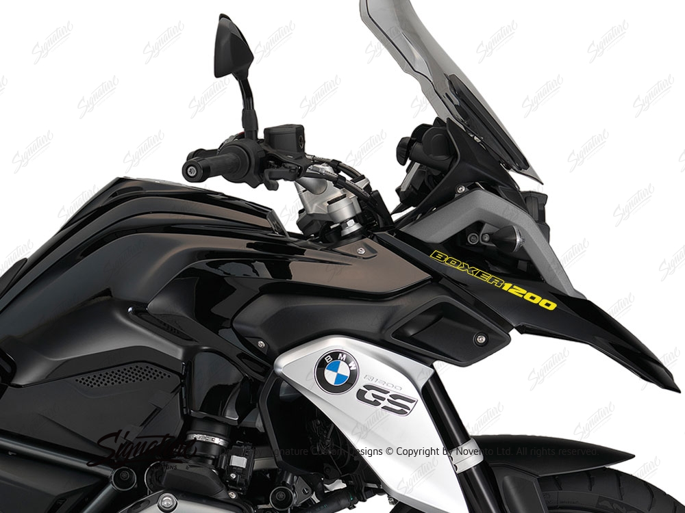 Bmw R1200gs Lc Triple Black Boxer1200 Fender Stickers