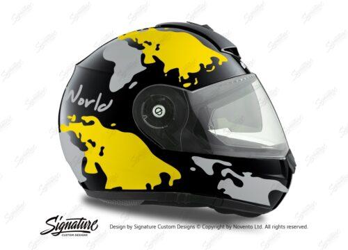 HEL 1787 Schuberth C3 Pro Black The World Yellow Silver 02