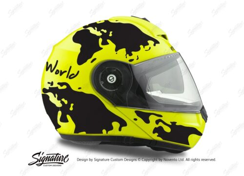 HEL 2043 Schuberth C3 Pro Yellow The World Black 02