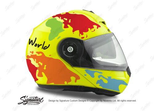 HEL 2098 Schuberth C3 Pro Yellow The World OrangeLight BlueRedGreen 02