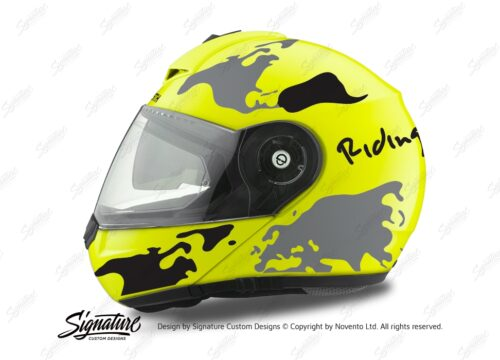 HEL 2099 Schuberth C3 Pro Yellow The World Black Grey 01