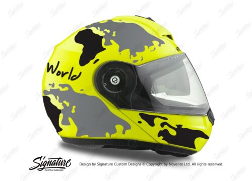HEL 2099 Schuberth C3 Pro Yellow The World Black Grey 02