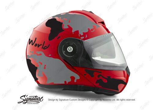 HEL 2102 Schuberth C3 Pro Red The World Black Grey 02