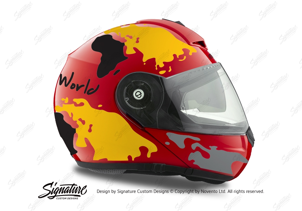 HEL 2103 Schuberth C3 Pro Red The World Black Yellow 02