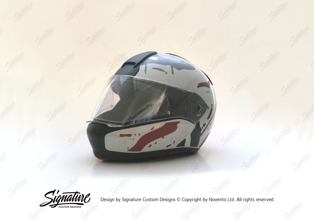 BMW System Helmet Silver Safari Grey Black Stickers Kit - Motorcycle helmet decals graphicsreflectivedecalscomour decal kit on the bmw systemhelmet