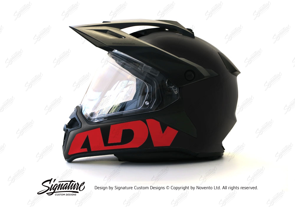 BMW GS Enduro Helmet Black ADV Stickers Signature Custom Designs - Motorcycle helmet decals graphicsreflectivedecalscomour decal kit on the bmw systemhelmet