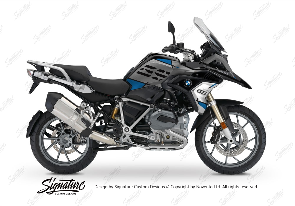 bmw r1200gs lc 2017 black storm vector series blue stickers kit signature custom designs. Black Bedroom Furniture Sets. Home Design Ideas