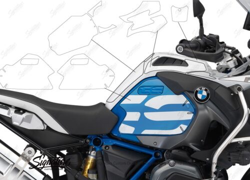 BPRF 2930 BMW R1200GS Adventure LC Alpine White Rallye 2018 Paint Self Healing Protective Film 02 1