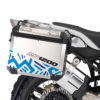 BMW Aluminum Side Pannier Massai Blue Variations Stickers Kit