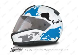 HEL 2935 BMW System 6 Bright White The Globe Series Blue Silver Stickers Kit 01 1