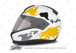 HEL 2936 BMW System 6 Bright White The Globe Series Yellow Silver Stickers Kit 01 1