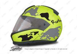HEL 2938 BMW System 6 Neon Yellow The Globe Series Black Grey Stickers Kit 01 1