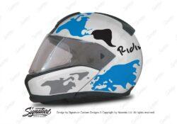 HEL 2941 BMW System 6 White Silver Metallic The Globe Series Blue Black Stickers Kit 01 1