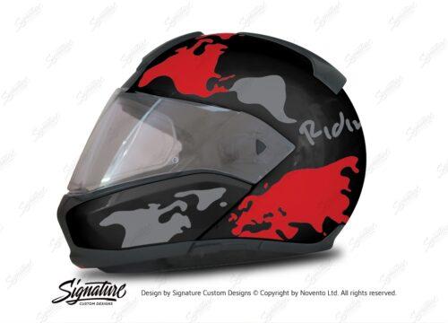 HEL 2944 BMW System 6 Sapphire Black Metallic The Globe Series Red Silver Stickers Kit 01 1
