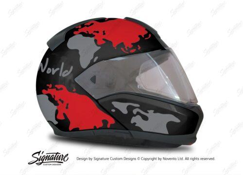 HEL 2944 BMW System 6 Sapphire Black Metallic The Globe Series Red Silver Stickers Kit 02 1