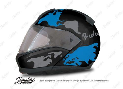 HEL 2945 BMW System 6 Sapphire Black Metallic The Globe Series Blue Silver Stickers Kit 01 1