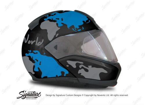 HEL 2945 BMW System 6 Sapphire Black Metallic The Globe Series Blue Silver Stickers Kit 02 1