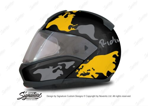 HEL 2946 BMW System 6 Sapphire Black Metallic The Globe Series Yellow Silver Stickers Kit 01 1