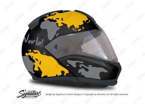 HEL 2946 BMW System 6 Sapphire Black Metallic The Globe Series Yellow Silver Stickers Kit 02 1