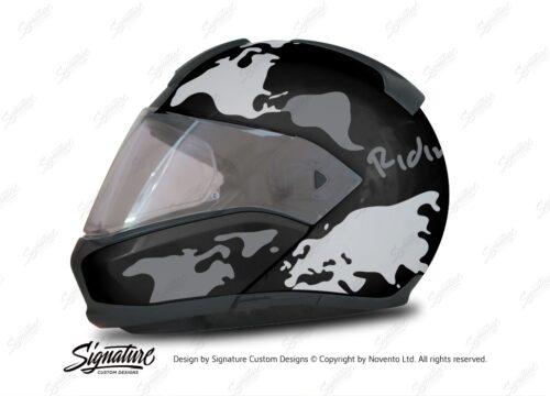 HEL 2947 BMW System 6 Sapphire Black Metallic The Globe Series Grey Variations Stickers Kit 01 1