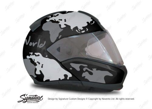 HEL 2947 BMW System 6 Sapphire Black Metallic The Globe Series Grey Variations Stickers Kit 02 1