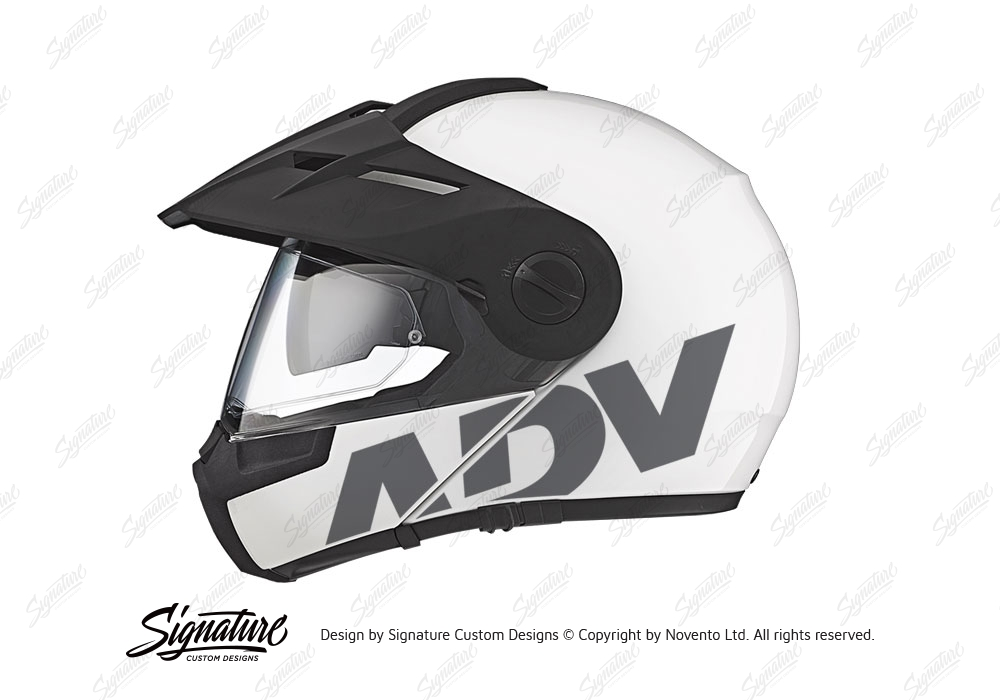 Schuberth E1 Helmet White Adv Stickers Kit