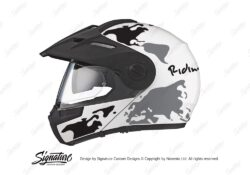 HEL 2993 Schuberth E1 White The Globe Series Black Grey Stickers Kit 01 1