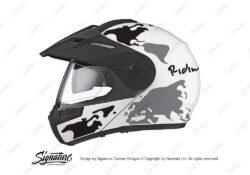 HEL 2993 Schuberth E1 White The Globe Series Black Grey Stickers Kit 01 1