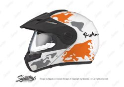 HEL 2994 Schuberth E1 White The Globe Series Orange Grey Stickers Kit 01 1