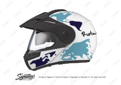 HEL 2995 Schuberth E1 White The Globe Series Blue Variations Stickers Kit 01 1