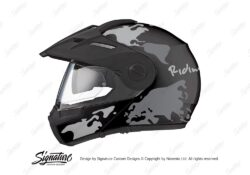 HEL 2996 Schuberth E1 Black The Globe Series Grey Variations Stickers Kit 01 1