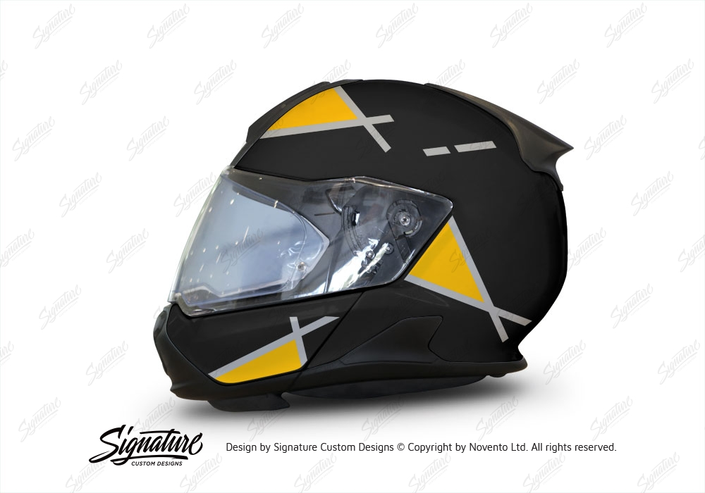 bmw system 7 helmet black vector series silver yellow. Black Bedroom Furniture Sets. Home Design Ideas