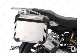 BSTI 3066 BMW R1200GS LC Adventure Panniers Black White Reflective Stripes Stickers Kit 03