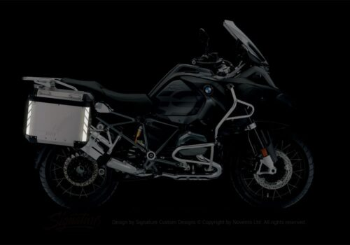 BSTI 3067 BMW R1200GS LC Adventure Panniers Black Reflective Stripes Stickers Kit 02