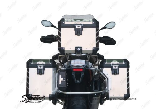 BSTI 3067 BMW R1200GS LC Adventure Panniers Black Reflective Stripes Stickers Kit 06