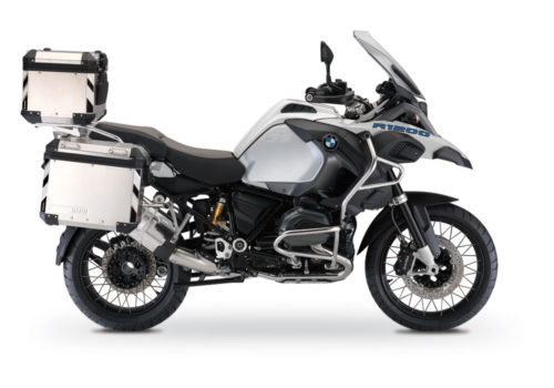 BSTI 3068 BMW R1200GS LC Adventure Alluminium Top Box Black White Reflective Stripes Stickers Kit 01