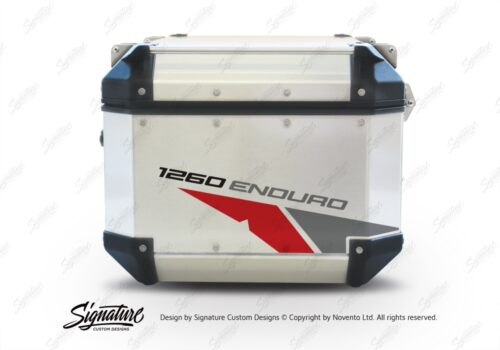 GISTI 2706 Givi Trekker Outback Top Box 42lt 58lt Velos Red Grey Stickers Kit 1260ENDURO