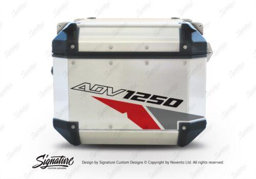 GISTI 2706 Givi Trekker Outback Top Box 42lt 58lt Velos Red Grey Stickers Kit ADV1250