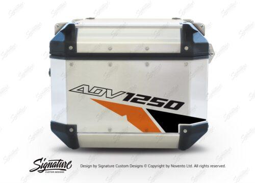 GISTI 2709 Givi Trekker Outback Top Box 42lt 58lt Velos Orange Black Stickers Kit ADV1250