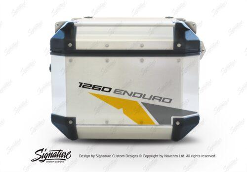 GISTI 2710 Givi Trekker Outback Top Box 42lt 58lt Velos Yellow Grey Stickers Kit 1260ENDURO