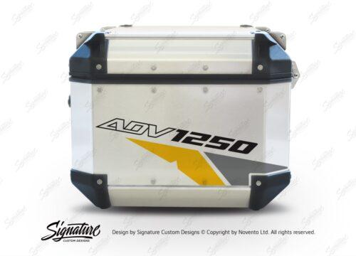 GISTI 2710 Givi Trekker Outback Top Box 42lt 58lt Velos Yellow Grey Stickers Kit ADV1250