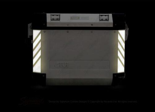 GISTI 3071 Givi Trekker Outback Side Panniers 48lt 37lt Black Reflective Stripes Stickers Kit 02
