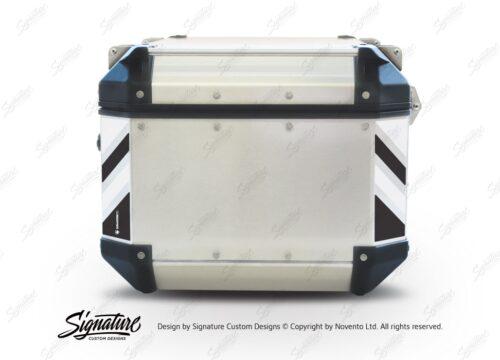GISTI 3072 Givi Trekker Outback Top Box 42lt 58lt Black White Reflective Stripes Stickers Kit 01