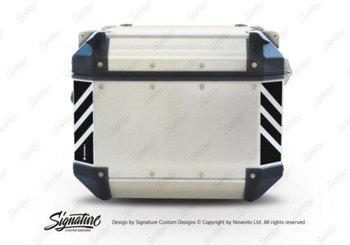 GISTI 3073 Givi Trekker Outback Top Box 42lt 58lt Black Reflective Stripes Stickers Kit 01